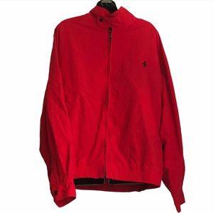 Vintage FERRARI Logo zip up jacket in red size 52